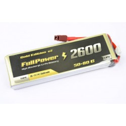 FullPower - Batteria Lipo 2S 2600mAh 50C Gold Edition V2 spina tipo DEANS