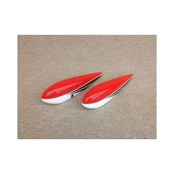 "Wheel Pants Extra 104"" Rosso Extreme Flight"